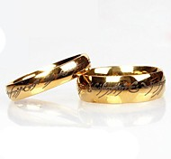 Stainless Steel The Lord of the Ring Couple Rings Gold Color