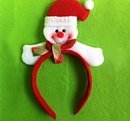 Christmas Red Flush Snowman Headband(6pcs)
