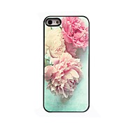 Lovely Peony Design Aluminium Hard Case for iPhone 4/4S