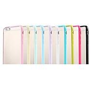 colorido cubierta del tpu venta caliente marco y una estera tc translúcido delgado para el iphone 6 (colores surtidos)