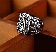 Men's Europe Fashion Titanium Steel Ring