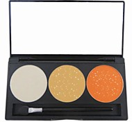 3 Color Golden Shimmer Glitter Powder Professional Eye Shadow Makeup Cosmetic Palette with Mirror&Applicator Set 5#