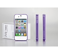 GGMM Pure-A Dustproof Clear Transparent Gel Cover Protective Case with Screen Protector Film for iPhone 4S