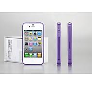 GGMM-un pur cas de poussière claire de couverture de gel transparent de protection avec un film protecteur d'écran pour l'iphone 4s
