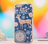 Set Auger  Pattern  PC  Soft Cover for iPhone 6 Plus