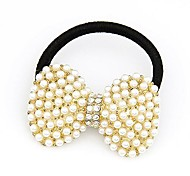 Korean Fashion Lady Pearl Big Bow Hair Ties