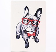 Glasses Dog Pattern PU Leather Full Body Case with Stand  for iPad Mini 1/2/3