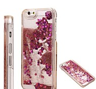 Fashion Transparent Glitter Sand Bling Quicksand Star Pattern Case Cover for iPhone 4/4S(Assorted Colors)