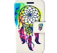 Feather Dream Catcher PU Leather Hard Case with Card Slots for Samsung Galaxy Trend Duos S7562