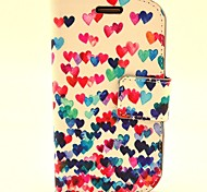 Love Dancing Pattern PU Leather with Case and Card Slot for Samsung S3 Mini I8190