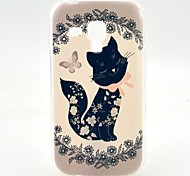 Black Butterfly Pattern Soft Case for Samsung Galaxy Trend Duos S7562
