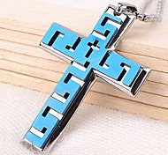 Z&X®  Punk Vintage Cross Titanium Steel Pendant Men's Necklace