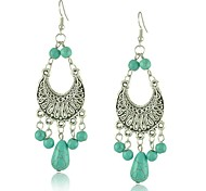 Damen Ohrring Legierung Türkis Drop Earrings