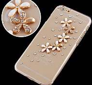 Daisies with Crystals Pattern Hard Back Case for iPhone 6