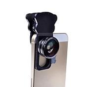 3-in-1cat clipe olho lente da câmera kit definir lente olho de peixe com grande angular e lente macro para iphone e outros (cores sortidas)
