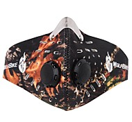 WOLFBIKE Anti-pollution Dustproof Face Cover Cycling Mask - Black Green Camouflage
