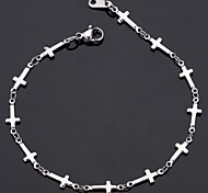 u7® Frauen 316L Titan Stahl jesus Quergliederkette Armbandarmband 21cm