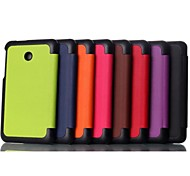 Custer 3 Fold High Quality Leather Full Body Case for Asus FE170 (Assorted Colors)