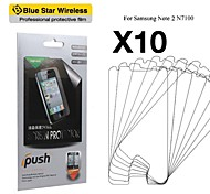 High Transparency HD LCD Screen Protector with Cleaning Cloth for Samsung Note 2 N7100 (10 Pieces)