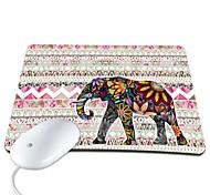 elonbo bohemien bella striscia e elefante esotico PU antiscivolo mousepad mouse pad
