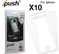 High Transparency Matte LCD Screen Protector for iPhone 4/4S (10 Pieces)