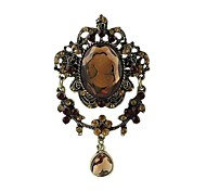 2014 New Arrivals Women Gemstone Cameo Brooch