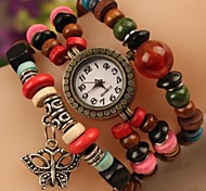 Women's FashionButterfly Beads Japanese Quartz Watch(Assorted Colors)