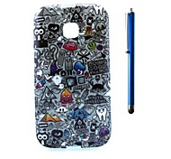 4.3 Inch Printing Series TPU Soft Case Back Cover and Pen as Gift for Moto E