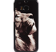 Lion Pattern Aluminium Hard Case for HTC M8