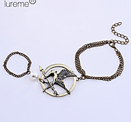 lureme®the hunger games Vögel Charme mit Ring Armband