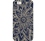 Black Flower Pattern Back Case for iPhone6