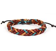 alta moda angoscia maschile braccialetto intrecciato in pelle di colore marrone blu arancio della canapa (1 pezzo)