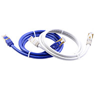 2M 6.56FT Cat7 Network Cable High Speed Double Shielding Fiber Optic Pure Copper Network Connection Cable