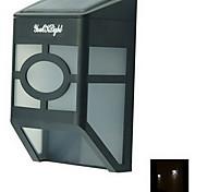 youoklight® leds haute puissance de 2x lumière blanche chaude lampe / lanterne lumière solaire clôture mur solaire monté lumière