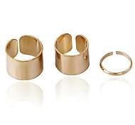 dreiteilige glatte Ringe