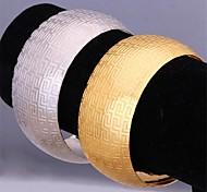 U7® Hot Sale G Pattern 18K Real Chunky Gold Platinum Plated Cuff Bracelet