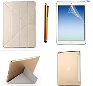 Silk Pattern PU Leather Full Body Case with Touch Pen and Protective Film 2 Pcs for iPad Air 2/iPad 6(Assorted Colors)