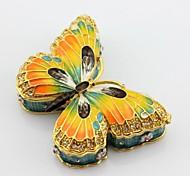 Enamel Pewter Butterfly Trinket Box Jewelry Box