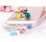 Luminous Crystal Ball  Anti-dust Earphone Jack for iPhone/iPad and Others(Random Color)