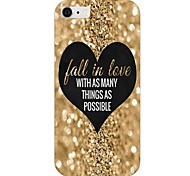 Gold Heart Pattern Back Case for iPhone 6