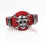 Men's Fashion Skull Leather Bracelet