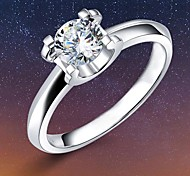 Damen Ringe Kubikzirkonia Silber Silber