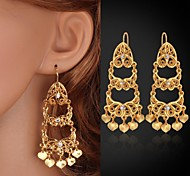 New Long Vintage Tassels Earrings Charms Jewelry 18K Yellow Gold Plated Earrings Fashion Jewelry