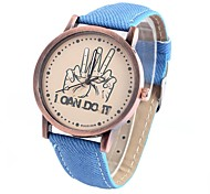 Men's and women's fingers round patterns wove belt watch Chinese movement(Assorted Colors)