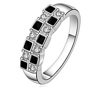 Ringe Alltag Schmuck Stahl Ring 1 Stück,7 8 Weiß