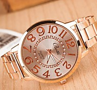 Femme Montre Tendance Quartz Alliage Bande Bracelet Montre Or Rose