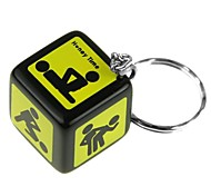Sexy Funny Adult Love Humour Gambling Dice Keychain Dice
