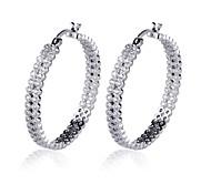 Two-Sided Earrings Jewelry,in 925 Sterling Silver Earrings Jewelry,Cubic Zirconia Earrings,Women's Earrings Jewelry