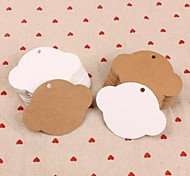 UFO Kraft Paper Hang Tags Lables for Bookmark Gift Bakery Packaging Favors Wedding Party Price Cards(Set of 50)