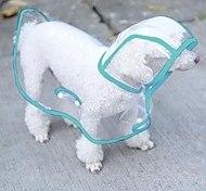 Dog Rain Coat White / Green / Pink / Purple Spring/Fall Solid Waterproof